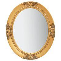 vidaXL Sieninis veidrodis, auksinis, 50x60cm, barokinio stiliaus