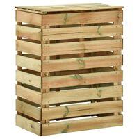 vidaXL Sodo komposto dėžė, 80x50x100cm, impregnuota pušis, lentjuostės