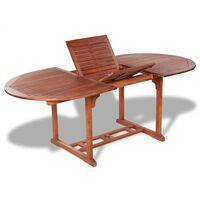 vidaXL Sodo stalas, 200x100x74 cm, akacijos medienos masyvas