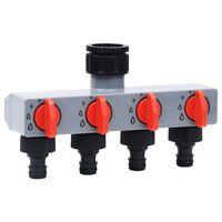 vidaXL Automatinis sodo laistymo laikmatis su 4 krypčių vožtuvu