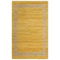 vidaXL Kilimas, geltonos spalvos, 160x230cm, džiutas