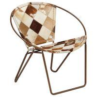 vidaXL Kėdė, rudos spalvos, tikra oda, deimanto formos