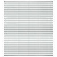 vidaXL Žaliuzės, aliuminis, 80 x 160 cm, sidabro spalvos