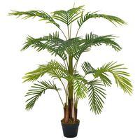 vidaXL Dirbtinė palmė su vazonu, žalios spalvos, 120cm