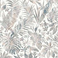 DUTCH WALLCOVERINGS Tapetai, smėlio spalvos, su lapais ir tukanais