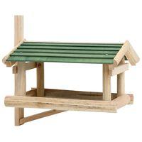 vidaXL Lesykla paukščiams, 35x29,5x21cm, medienos masyvas