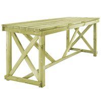vidaXL Sodo stalas, 160x79x75cm, mediena