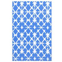 vidaXL Lauko kilimas, mėlynos ir baltos spalvos, 120x180cm, PP