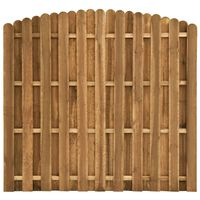 vidaXL Tvoros plokštė, 180x(155-170)cm, pušies mediena
