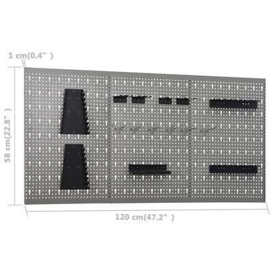vidaXL Darbastalis su 3 sieninėmis plokštėmis (145344+145351)