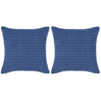 vidaXL Pagalvėlių rinkinys, 2vnt., veliūras, 45x45cm, mėlyna spalva
