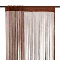 vidaXL Virvelinės užuolaidos, 2vnt., 140x250cm, rudos spalvos