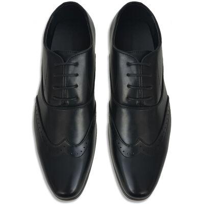 vidaXL Vyriški batai, suvarstomi, juodi, dydis 41, PU oda