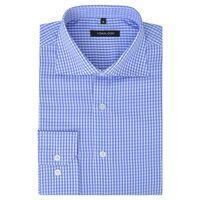 vidaXL Vyriški kostiumo marškiniai, dydis S, balti/žydri langeliai