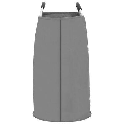 vidaXL Skalbinių rūšiavimo krepšys, pilkos spalvos