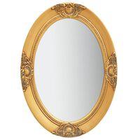 vidaXL Sieninis veidrodis, auksinis, 50x70cm, barokinio stiliaus