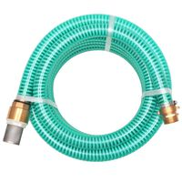 vidaXL Siurbimo žarna su žalvarinėmis jungtimis, 7 m 25 mm, žalia