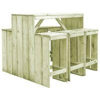 vidaXL Lauko valgomojo baldų komplektas, 7 dalių, pušies mediena