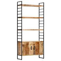 vidaXL Knygų spinta, 4 aukštų, 80x30x180cm, mango mediena