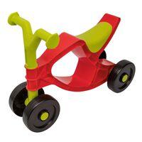 BIG Flippi Ride-On Dviratis, raudonos ir žalios spalvos
