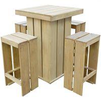 vidaXL Lauko baldų komplektas, 5 dalių, impregnuota pušies mediena