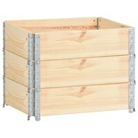 vidaXL Padėklų apvadai, 3vnt., 60x80cm, pušies medienos masyvas