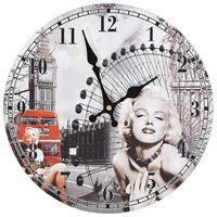 vidaXL Sieninis laikrodis, 30cm, vintažinio dizaino, su Marilyn Monroe