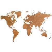 MiMi Innovations Sienos dekoracija-žemėlapis Giant, rudas, 280x170cm