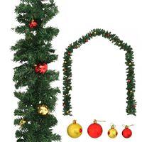 vidaXL Kalėdinė girlianda papuošta žaisliukais, 10 m