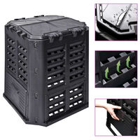 vidaXL Sodo komposto dėžė, juoda, 68,9x68,9x83,9cm, 360 l
