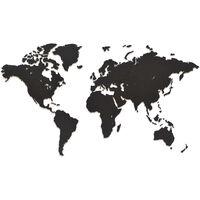 MiMi Innovations Sienos dekoracija-žemėlapis Luxury, juodas, 90x54cm
