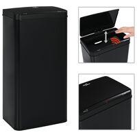 vidaXL Automatinė šiukšliadėžė su jutikliu, 80l, juoda, plienas