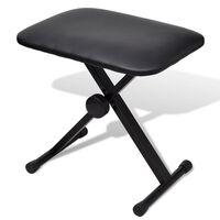 vidaXL Reguliuojama kėdė pianinui, sulankstoma