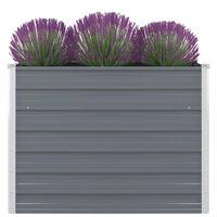 vidaXL Aukštas lovelis augalams, 100x100x77cm, cink. plienas, pilkas