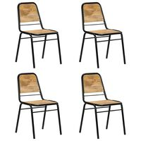 vidaXL Valgomojo kėdės, 4 vnt., mango medienos masyvas (2x247317)