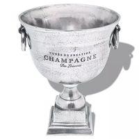 vidaXL Prizo taurės formos šampano atšald. indas, alium., sidabro sp.