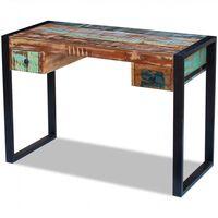 vidaXL Rašomasis stalas, perdirbtos medienos masyvas
