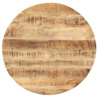 vidaXL Stalviršis, 60cm, mango medienos masyvas, apskritas, 25-27mm