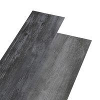 vidaXL Grindų plokštės, blizgios pilkos spalvos, PVC, 4,46m², 3mm