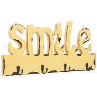 vidaXL Prie sienos montuojama paltų kabykla SMILE, 50x23cm