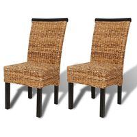 vidaXL Valgomojo kėdės, 2vnt., pluoštinis bananas ir mango masyvas