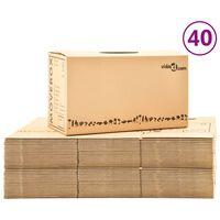 vidaXL Kraustymosi dėžės, 40vnt., 60x33x34cm, XXL (2x30145)