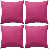 vidaXL Lauko pagalvės, 4 vnt., rožinės, 45x45 cm