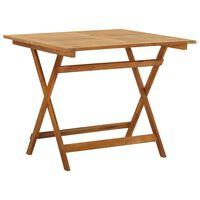 vidaXL Sulankstomas sodo stalas, 90x90x75cm, akacijos medienos masyvas