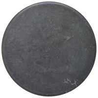 vidaXL Stalviršis, juodos spalvos, skersmuo 70x2,5cm, marmuras