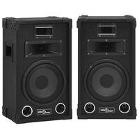 vidaXL Profesionalios pasyvios garso kolonėlės, 2vnt., juodos, 800W