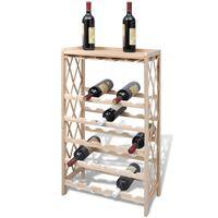 vidaXL Vyno laikiklis 25 buteliams, eglės mediena