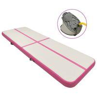 vidaXL Pripučiamas gimnastikos kilimėlis, rožinis, 300x100x15cm, PVC