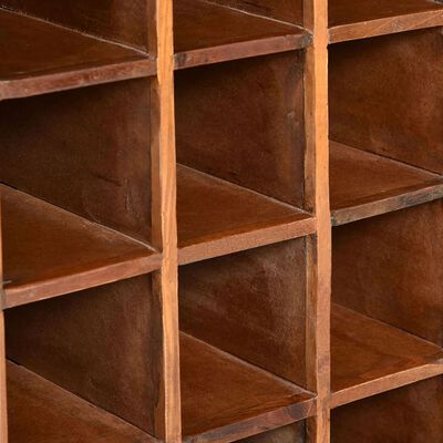 vidaXL Stovas vynui skirtas 16 butelių, perdirbta mediena