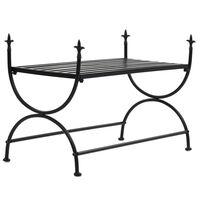 vidaXL Suoliukas, juodas, 83x42x55cm, metalas, vintažinio stiliaus